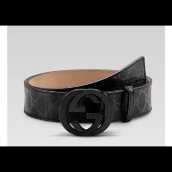 42a18b263 Gucci Accessories   Black Mens Belt   Poshmark